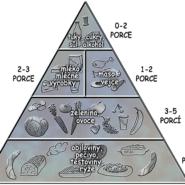 Potravinová pyramida zdravé výživy